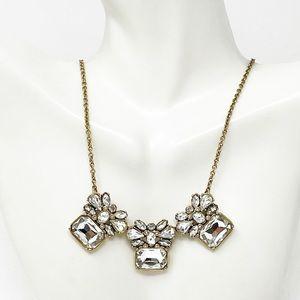 Banana Republic Gold Tone Crystal Necklace